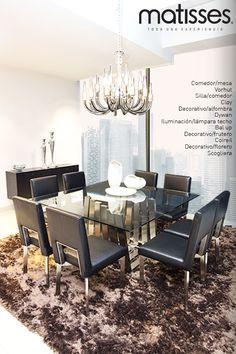 Experiencia Matisses: ¿Te gusta el color negro para decorar?, el comedor es la estancia del hogar en la que puedes aplicar este tono para efectos de elegancia.