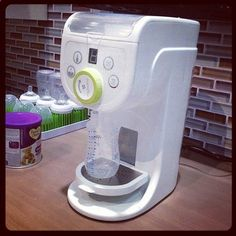 Whaaaat?! Baby formula Keurig!! 94 New Baby Products That Will Hit Store Shelves in the Coming Year: Homedics My Baby plans to launch a formula dispenser next Fall. The system will fill two, four, six, and eight ounces at a time and will only take 20 seconds. Where was this when my kids were babies!