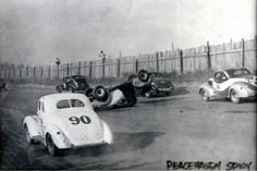 Great early stock car racing action.