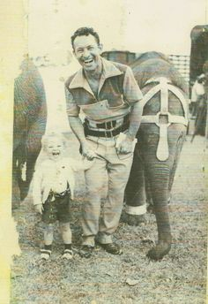 Clyde Beatty and his son Clyde Jr. This (1953)