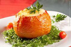 Familia Mineira (almoço)    Tomate recheado com creme de palmito