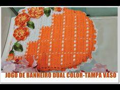 JOGO DE BANHEIRO DUAL COLOR -TAMPA VASO - YouTube
