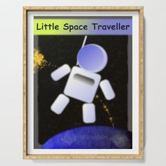 Young Space Traveller Serving Tray by edream Cute Gifts, Tray, Space, Beautiful Gifts, Floor Space, Trays, Board, Spaces