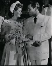 1949 Press Photo Lucille Ball and Desi Arnaz Remarry at Lady of Valley Church