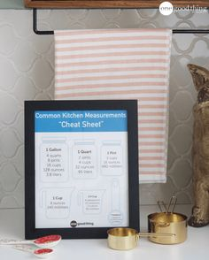 These 2 Kitchen Reference Charts Will Make You A Better Cook - One Good Thing by Jillee