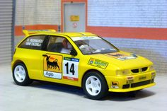 Scalextric Tecnitoys- Altaya. Seat Ibiza Kit-Car. Campeonato de España de Rallyes de Tierra. Sene Cazorla-Heriberto Rodriguez. #slotcar