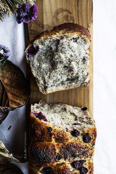 Pan de molde de yogurt, amapola y arándanos - Bake-Street.com