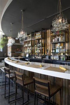 I this restaurant and bar - Cucina Urbana in San Diego Bar Interior, Restaurant Interior Design, Best Interior Design, Modern Restaurant, Restaurant Bar, Outdoor Restaurant, Restaurant Concept, Kitchen Bar Design, Cafe Design