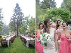 bride and bridesmaids - photo by Alders Photography http://ruffledblog.com/oxnard-barn-wedding