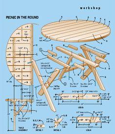 mesa redonda picnic