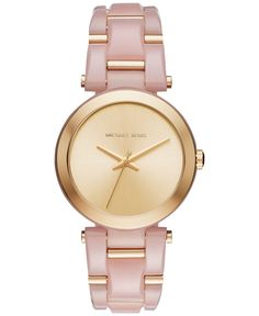 Michael Kors Women's Delray Two-Tone Stainless Steel and Acetate Bracelet Watch 36mm MK4317MK4316