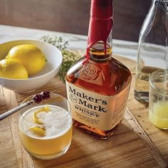 Our version of the whisky sour is made better with Maker's Mark, of course. Learn how this classic cocktail is made while getting some tips from the pros. Explore the whisky sour and other bourbon cocktails from Maker's Mark. Cocktail Maker, Cocktail Drinks, Cocktail Recipes, Cocktail Desserts, Refreshing Cocktails, Bourbon Cocktails, Classic Cocktails, Party Drinks, Cocktails