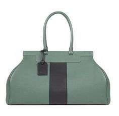 Moynat - Green and black 'Pauline 25h' leather travel bag.