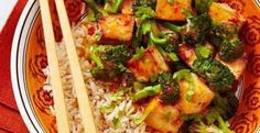 Chipotle-Orange Broccoli & Tofu  | KitchenDaily.com
