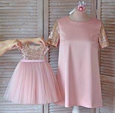 New Baby Dress Crochet Daughters Ideas Girls Party Dress, Little Girl Dresses, Girls Dresses, Flower Girl Dresses, Dress Outfits, Kids Outfits, Trendy Outfits, New Baby Dress, Mother Daughter Fashion