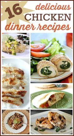 16 Delicious Chicken Recipes: Tons of simple ways to make chicken for dinner tonight!