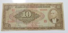 TURKEY 4. EMISSION 1. ISSUE 10 LIRA INONU Vintage World Maps, Turkey, Money, Ebay, Turkey Country, Silver
