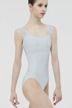 ERINE - Tank leotard with a scalloped trim lace overlay. Girls Dancewear, Dance Leotards, Dance Outfits, Sport Outfits, Ballet Outfits, Dance Dresses, Ballet Wear, Ballet Clothes, Ballet Costumes