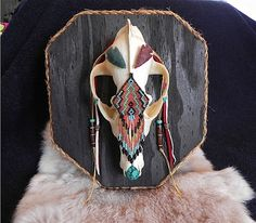 Coyote Skull  Native American  Wall Art by wadeANTHONY on Etsy, $125.00