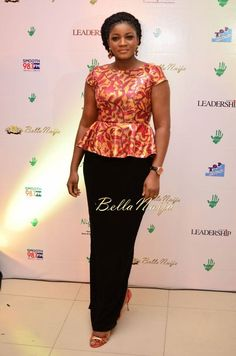Omotola Jalade-Ekeinde spotted at the EiE Charity Auction in Lagos