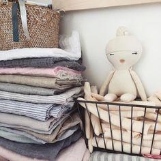 Studio close up 💕 #baby #fabriclove #studioscene #babydoll #studio #sew #unique #oneatatime #uniquedoll #handmadetoys #linen #linenlove
