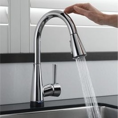faucet white lovely automatic home kitchen sensor latest depot touch bathroom ideas king cabinets crab faucets sink reviews