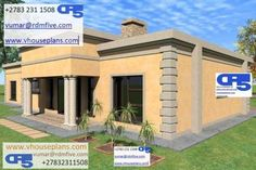RDM5 House Plan No. W0008B Round House Plans, Free House Plans, Family House Plans, 20x30 House Plans, Duplex House Plans, Flat Roof House Designs, Single Storey House Plans, House Plans South Africa, House Construction Plan