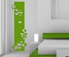 Wandtattoo-Banner-Blumen-Ranke-Herz-Herzen-Schlafzimmer-Wandaufkleber-1U250