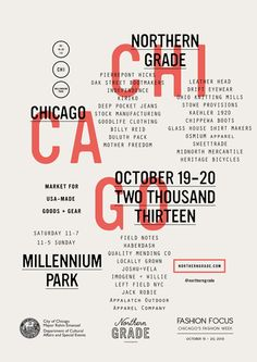 Take note: Northern Grade Market in Chicago this weekend.
