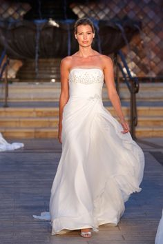 Enzoani - wedding dresses - (BridesMagazine.co.uk) Love the flowy movement