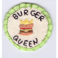 Burger Queen Patch ($7) ❤ liked on Polyvore featuring pictures, fillers, patches, & - green items ve accessories