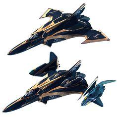 Sv-262HsドラケンⅢ 【キース機】/画像は公式Webサイトより Space Fighter, Fighter Jets, Rpg Star Wars, Robotech Macross, Stars Craft, Futuristic Art, Great Love Stories, Nerd Geek, Gundam