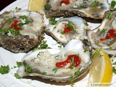 """Enjoy these """"Enjoy Raw Oysters with Freshly Grated Horseradish"""".especially on August National Oyster Day! Seafood Recipes, Paleo Recipes, Appetizer Recipes, Appetizers, Raw Oysters, Fresh Oysters, Fresh Horseradish, Oyster Recipes, August 5th"""