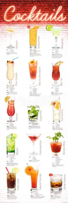 Cocktails on pinterest - Nanu nana poster ...
