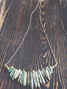 •Turquoise Point Necklace - Raw Crystal Jewelry - Turquoise Jewelry - Turquoise Necklace•