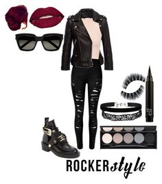 """""""015"""" by mxriitt ❤ liked on Polyvore featuring Anine Bing, Balenciaga, WearAll, Smashbox, Miss Selfridge, Witchery, Yves Saint Laurent, rockerchic and rockerstyle"""