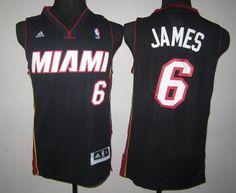 Adidas Miami Heat #6 LeBron James Blue NBA Revolution 30 Jerseys-td