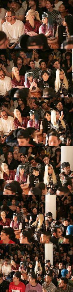 CL (2NE1) & Yanggaeng with Terry Richardson, Iggy Azalea,Mademoiselle Yulia, Nicki Minaj, Joe & Kevin Jonas @ 130911 Jeremy Scott 2014 S/S Fashion Show