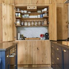kitchen pantry cabinet ideas Kitchen Pantry Design, Kitchen Pantry Cabinets, Kitchen Decor, Kitchen Ideas, Decorating Kitchen, Cupboard Storage, Kitchen Storage, Dyi