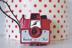 Vintage camera Imperial  Mark XII vintage camera Cherry Red on Etsy, $69.00