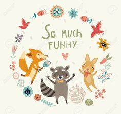 37771197-Cute-animals-background-Stock-Vector-cute.jpg (1300×1238)