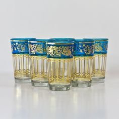 Moroccan Style Glasses Cups Traditional Tea by CozyTraditions