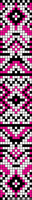 Native inspired chart for cross stitch, knitting, knotting, beading, weaving, pixel art, and other crafting projects. Great for alpha friendship bracelet pattern.