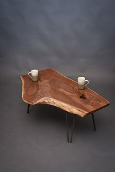 Unique Shaped Black Walnut COFFEE TABLe