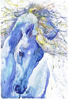 Horse , art, painting, watercolor, print,  head of the horse, equine decor, equestrian, animal art, horse head , room decor , Illustration