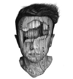 DRAWINGS OF MYSTERIOUS WOODEN PEOPLE