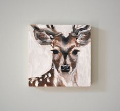 Deer Painting by ModernCabinbyEW on Etsy