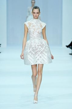 White lace: not just for weddings. Wedding dresses: don't need to be white or lace.