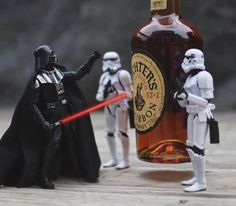 A scotch lover who fittingly calls himself Scotch Trooper (aka @scotch_trooper) photographs the toy soldiers playfully interacting with the brown liquor in a myriad of ways.