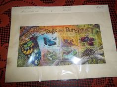 0123C = 2192B Block of six Stamps 2004 Bugs and Butterflies Australia